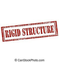 Grunge rubber stamp with text Rigid Structure, vector illustration