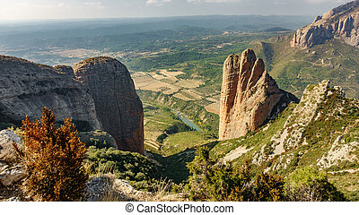 Riglos Mallets top view in Aragon