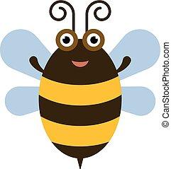 rigolote, abeille, icône