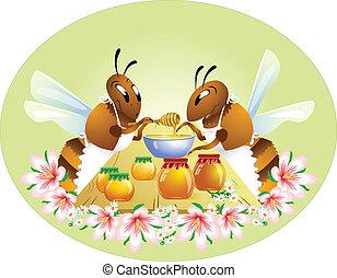 rigolote, abeilles, deux