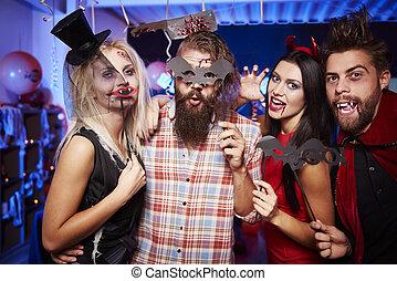 rigolote, amis, halloween, masques