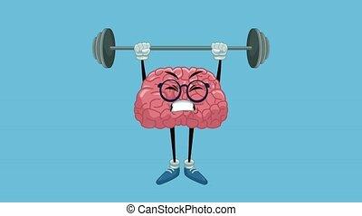 rigolote, animation, dessin animé, hd, cerveau