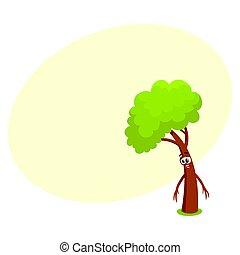 rigolote, arbre, projection, triste, désordre, désespoir,...