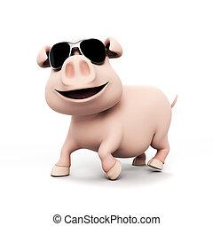 rigolote, caractère, cochon