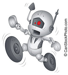 rigolote, caractère, robot, dessin animé