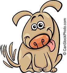 rigolote, chien, illustration, dessin animé