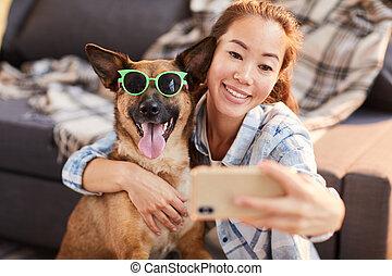 rigolote, chien, portrait