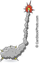 rigolote, comique, vecteur, explosion