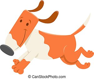 rigolote, courant, caractère, chien, dessin animé
