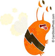 rigolote, dessin animé, abeille