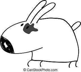 rigolote, dessin animé, chien