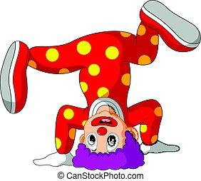 rigolote, dessin animé,  clown