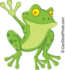 rigolote, dessin animé, grenouille