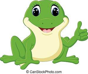 Rigolote d sordre pu ril caract re grenouille vert clip art vectoriel rechercher des - Dessin de grenouille verte ...