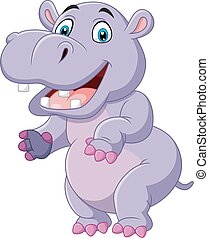 rigolote, dessin animé, hippopotame