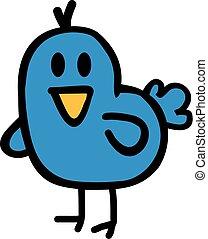 rigolote, dessin animé, oiseau