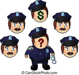 rigolote, dessin animé, policier