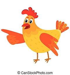 Regarder dr le fen tre vert ouvert oiseau rigolote - Dessin poule rigolote ...
