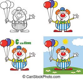 rigolote, ensemble, clown, 3., collection
