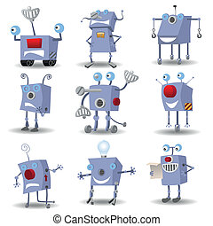rigolote, ensemble, robots