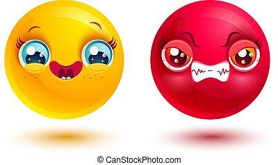rigolote, fâché, emoji