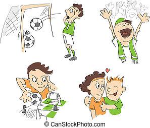 rigolote, football, -, football, caricatures