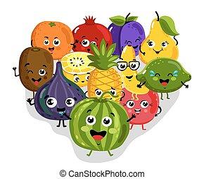 Rigolote grenade fruit dessin anim illustration clipart vectoriel rechercher - Grenade fruit dessin ...