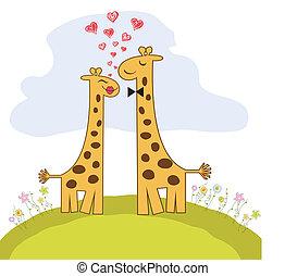 Girafe amour m le heart coeur nich girafes deux - Girafe rigolote ...