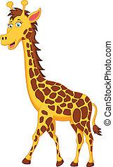 Debout girafe dessin anim debout girafe vecteur - Girafe rigolote ...