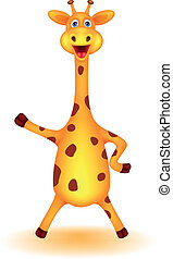 rigolote, girafe, dessin animé