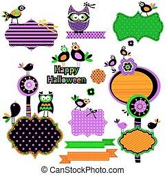 rigolote, halloween, éléments, conception