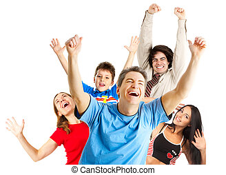 rigolote, heureux, gens