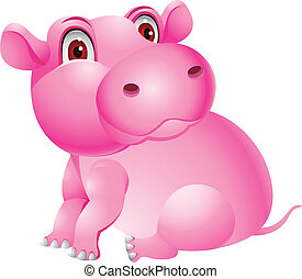 rigolote, hippopotame, dessin animé