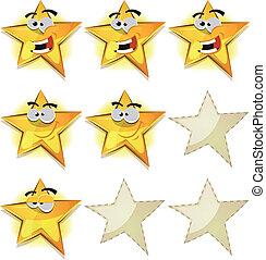 rigolote, icônes, jeu, partition, ui, étoiles