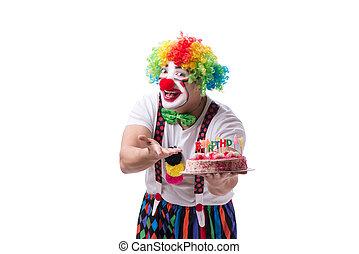 g teau anniversaire clown color isol clown photo de stock rechercher images et. Black Bedroom Furniture Sets. Home Design Ideas