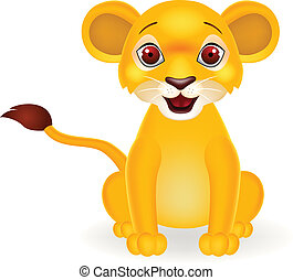 rigolote, lion bébé, dessin animé