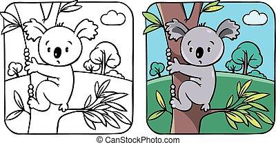rigolote, livre coloration, koala