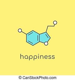 rigolote, neurotransmitter, molecule., concept., structure...