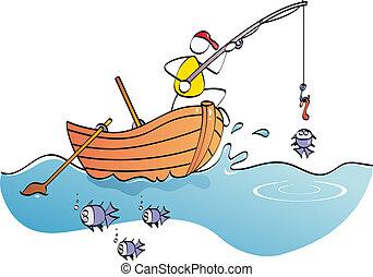rigolote, pêcheur