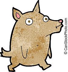 rigolote, peu, dessin animé, chien