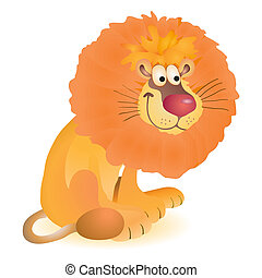 rigolote, peu, jouet, lion, séance
