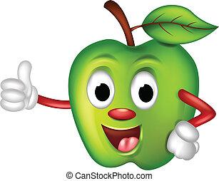 rigolote, pomme verte, dessin animé