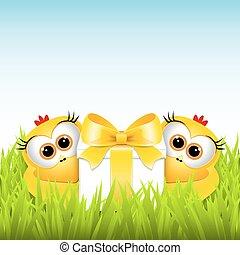 rigolote, poulets, cadeau