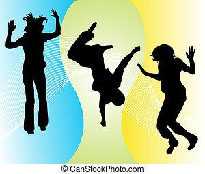 rigolote, sauter, adolescent
