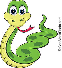 rigolote, serpent, dessin animé