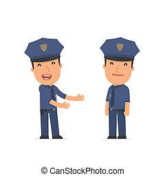 rigolote, sien, timide, introduces, officier, ami, caractère