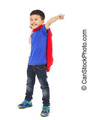 rigolote, superhero, pointage, poing, confection, gosse