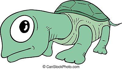 Tortue rigolote 10 regard caract re isol eps - Image tortue rigolote ...