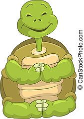 Mignon tortue d lassant dessin anim mignon tortue - Image tortue rigolote ...