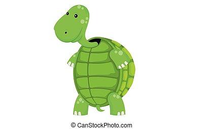 Tortue marais tortue debout swamp dessin anim - Image tortue rigolote ...